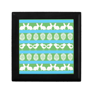 Easter pattern. Any background color Small Square Gift Box