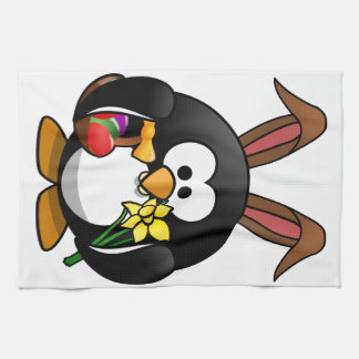 Easter penguin gifts t shirts art posters other gift ideas easter penguin tea towel negle Images