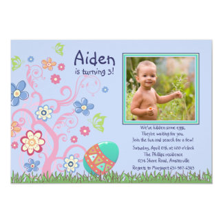 Easter Photo Birthday Party Invitation