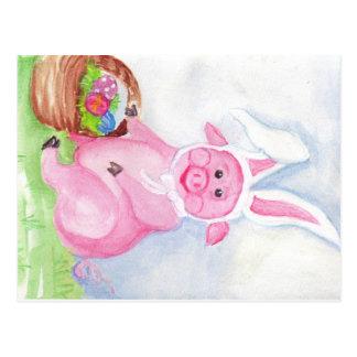 Easter Pig Postcard