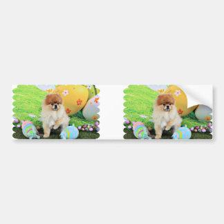 Easter - Pomeranian - Dexter Bumper Sticker