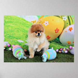 Easter - Pomeranian - Dexter Poster