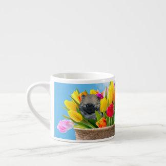 Easter pomeranian espresso cup