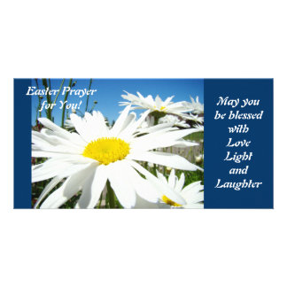 Easter Prayer Blessed with Love Light Laughter Photo Card Template