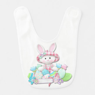 Easter - Pretty Quilted Bunny Bib