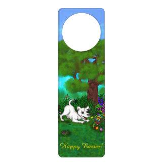Easter - Puppy Capo and Butterfly Door Hanger