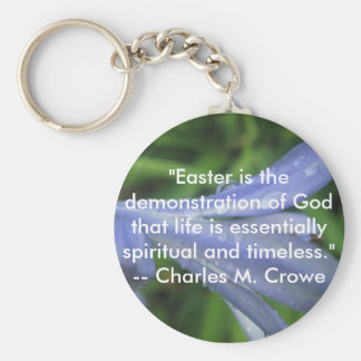 Easter Quote Basic Round Button Key Ring