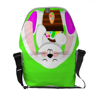 Easter Rabbit And A Basket of Eggs Commuter Bag