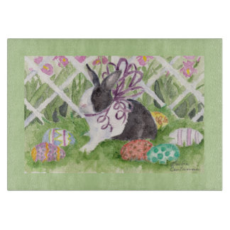 Easter Rabbit and Eggs Cutting Board