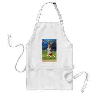 Easter Rabbit Playing Game with Chicks Standard Apron