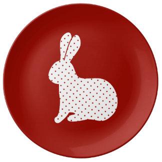 Easter Rabbit Porcelain Plates