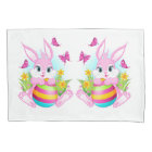 Easter Rabbit/Rooster Reversible Pillowcase