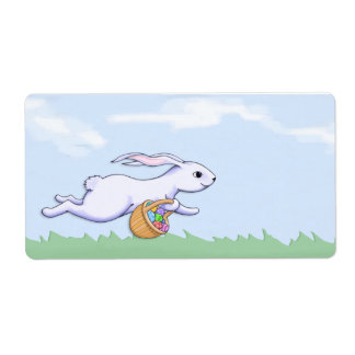 Easter Rabbit Run Gift Tag Shipping Label