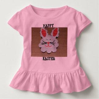 Easter Rabbit Toddler Ruffle Tee