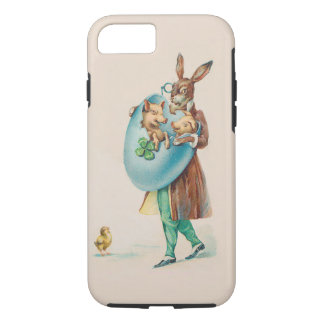 Easter Rabbit With Pigs - Cute Vintage Animal Art iPhone 7 Case