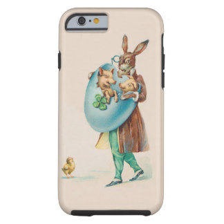 Easter Rabbit With Pigs - Cute Vintage Animal Art Tough iPhone 6 Case