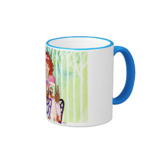 Easter Rabbits Brunch with Little Girl Coffee Mug