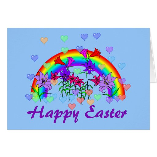 Easter Rainbow Greeting Cards