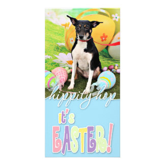 Easter - Rat Terrier - Georgia Photo Card Template