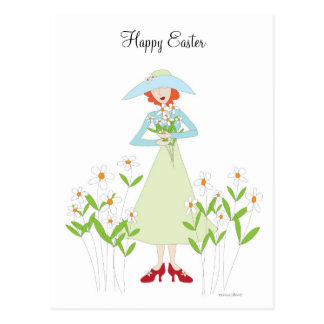 Easter Red Shoes Postcard