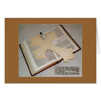 Easter Remembrance Greeting Card (Golden Brown)