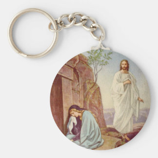 Easter Resurrection Day Basic Round Button Key Ring