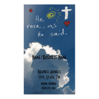 Easter Resurrection He Is Risen Jesus Rose Business Card Template