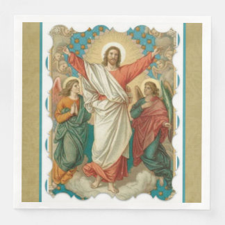 Easter Resurrection Pascha  Religious Jesus Angels Disposable Napkin