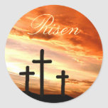 Easter Risen Round Stickers