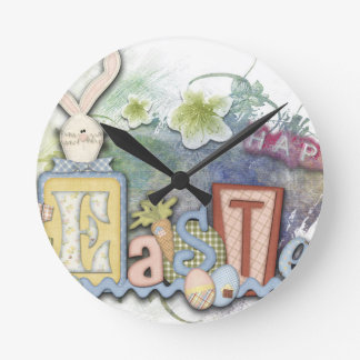 Easter Round Clock