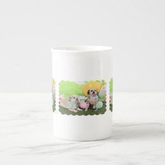 Easter - Shih Tzu - Clementine and Winston Porcelain Mug