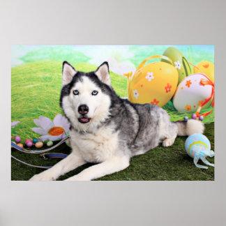 Easter - Siberian Husky - Luka Posters