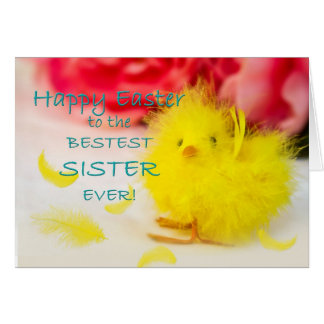 Easter SISTER chick Card
