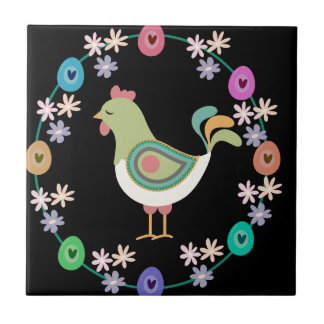 Easter Small Square Tile