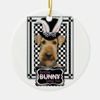 Easter - Some Bunny Loves You - Airedale Christmas Tree Ornaments