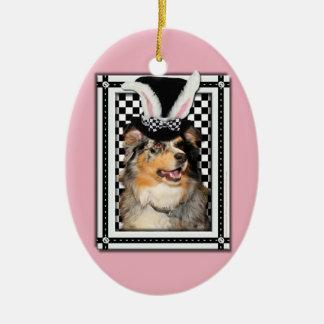 Easter - Some Bunny Loves You  Australian Shepherd Ornament
