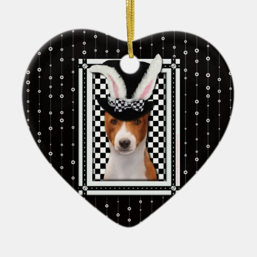 Easter - Some Bunny Loves You - Basenji Ornaments