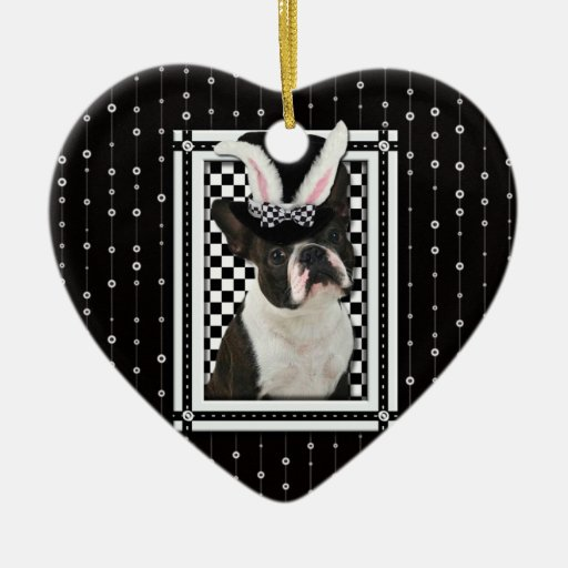 Easter - Some Bunny Loves You - Boston Terrier Christmas Ornaments