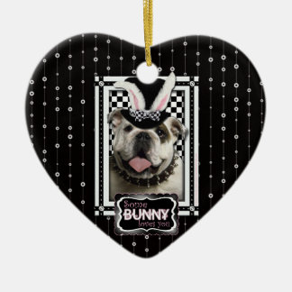 Easter - Some Bunny Loves You - Bulldog Christmas Ornament