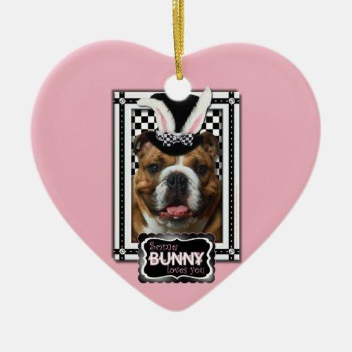 Easter - Some Bunny Loves You - Bulldog Christmas Tree Ornament
