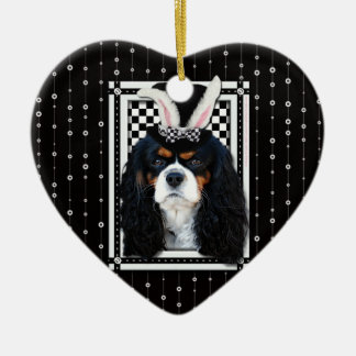 Easter - Some Bunny Loves You - Cavalier TriColor Ornament