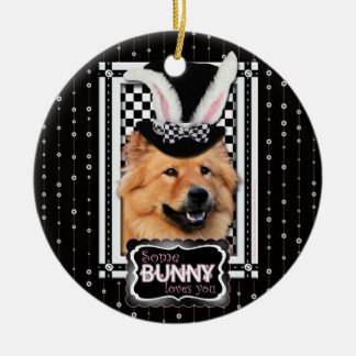 Easter - Some Bunny Loves You - Chow Chow Ornaments