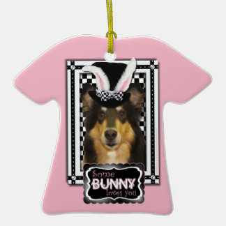 Easter - Some Bunny Loves You - Collie Caroline Christmas Tree Ornament