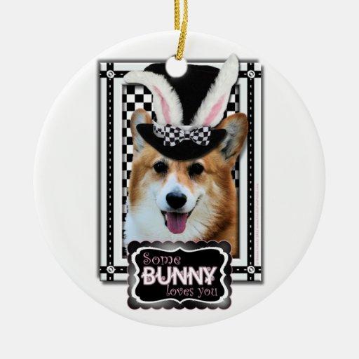 Easter - Some Bunny Loves You - Corgi Owen Christmas Tree Ornament