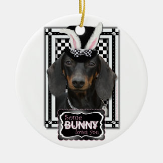 Easter - Some Bunny Loves You - Dachshund Christmas Ornament