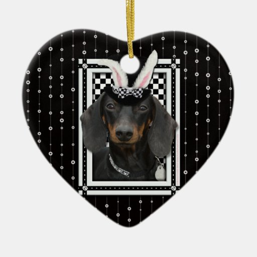 Easter - Some Bunny Loves You - Dachshund Christmas Ornaments