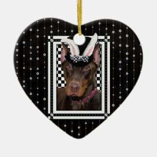 Easter - Some Bunny Loves You - Doberman Christmas Ornament
