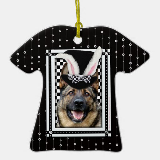 Easter - Some Bunny Loves You - German Shepherd Christmas Ornaments