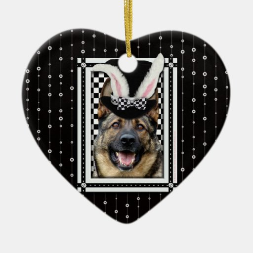 Easter - Some Bunny Loves You - German Shepherd Christmas Tree Ornaments
