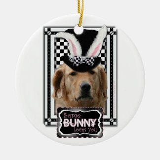 Easter - Some Bunny Loves You - Golden Retriever Ornaments